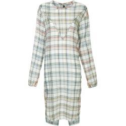 Bassike check gauze shirt dress - White found on MODAPINS from FARFETCH.COM Australia for USD $416.38