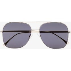 Fendi Womens Eyewear Black Square Metal Frame Sunglasses found on Bargain Bro UK from Browns Fashion