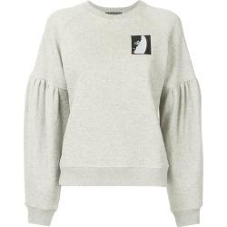 Alexa Chung logo patch sweatshirt - Grey found on MODAPINS from FARFETCH.COM Australia for USD $219.16