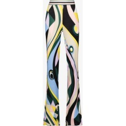 Emilio Pucci Womens Yellow Occhi Print Slim Fit Trousers found on Bargain Bro UK from Browns Fashion