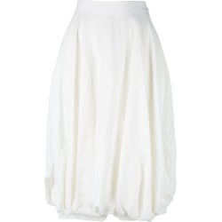 Loewe gathered knees midi skirt - White found on MODAPINS from Farfetch:Linkshare:Affiliate:CPA:UK:UK for $644.49