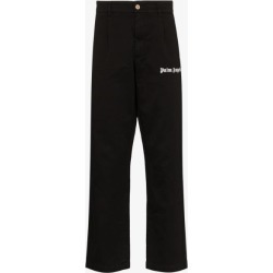 Palm Angels Mens Black Logo-print Cotton Trousers found on Bargain Bro UK from Browns Fashion