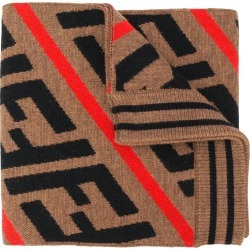 Fendi Kids FF pattern knitted scarf - Brown found on Bargain Bro India from FARFETCH.COM Australia for $232.37
