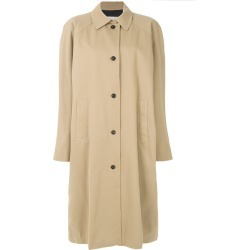 pushBUTTON oversized trench coat - Neutrals