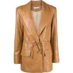 Aeron faux leather single-breasted blazer found on MODAPINS from Eraldo for USD $710.03