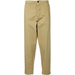 Bassike cropped tapered trousers - Brown found on MODAPINS from FarFetch.com - US for USD $340.00