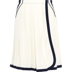 Prada Pleated skirt with contrasting trim - White found on MODAPINS from FarFetch.com- UK for USD $1703.23