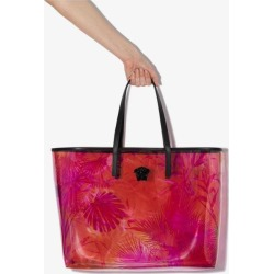 Versace Womens Pink Jungle Print Transparent Tote Bag found on Bargain Bro UK from Browns Fashion