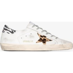 Golden Goose Womens White Superstar Low Top Leather Sneakers found on Bargain Bro UK from Browns Fashion