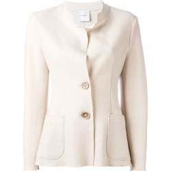 Agnona buttoned fitted jacket - Neutrals found on MODAPINS from FarFetch.com - US for USD $1338.00