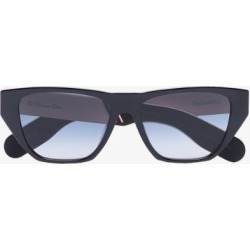 Dior Eyewear Womens Pink Black Straight Edge Square Sunglasses found on Bargain Bro UK from Browns Fashion