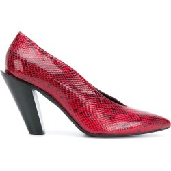 A.F.Vandevorst slant-heel pointed pumps - Flame found on MODAPINS from FarFetch.com- UK for USD $277.13