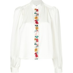 Alexa Chung floral detail shirt - White found on MODAPINS from FarFetch.com - US for USD $396.00