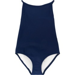 Burberry Kids Check Detail swimsuit - Blue