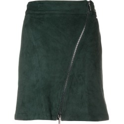 Armani Exchange off centre zipped skirt - Green found on MODAPINS from FarFetch.com- UK for USD $112.32