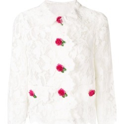 Dolce & Gabbana cropped lace jacket - White found on MODAPINS from FARFETCH.COM Australia for USD $2446.18