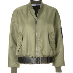 Alexander Wang aviator jacket with leather belt - Green found on MODAPINS from FarFetch.com - US for USD $1943.00