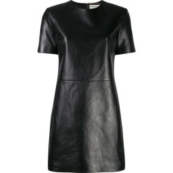 Saint Laurent leather T-shirt dress - Black found on Bargain Bro India from FARFETCH.COM Australia for $2492.95