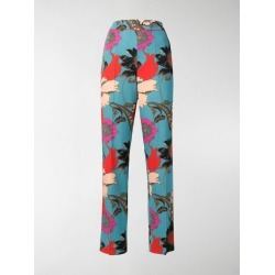 Etro floral print trousers found on Bargain Bro India from stefania mode for $860.00