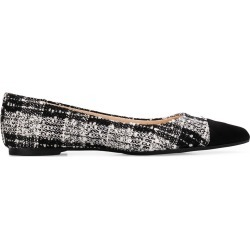 Anna Baiguera Malika suede and bouclè ballet flats - Black found on MODAPINS from FarFetch.com- UK for USD $234.16