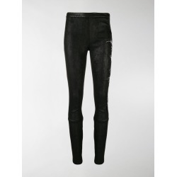 Haider Ackermann floral-embroidered leather leggings found on Bargain Bro India from stefania mode for $1540.00