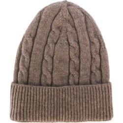 Dell'oglio cashmere cable-knit hat - Brown