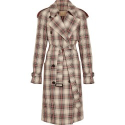 Burberry Lightweight Check Trench Coat - Brown