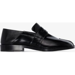 Maison Margiela Womens Black Tabi Patent Leather Loafers found on Bargain Bro UK from Browns Fashion