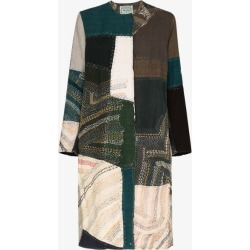 By Walid Womens Green Tanita Printed Silk Linen Coat found on Bargain Bro UK from Browns Fashion