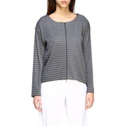 Emporio Armani Sweater Emporio Armani Cardigan In Ribbed Jacquard With Zip found on Bargain Bro UK from Italist