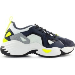 Emporio Armani Navy Blue White Suede Mesh Chunky Sneaker found on Bargain Bro UK from Italist
