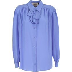 Gucci Crêpe De Chine Shirt Detachable Jabot Detail found on MODAPINS from Italist for USD $1241.20