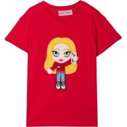 Chiara Ferragni Red Cotton Graphic Print Short-sleeved T-shirt From found on Bargain Bro India from italist.com us for $117.12