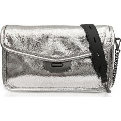 Rag & Bone Silver Crackle Leather Field Clutch found on Bargain Bro India from Italist Inc. AU/ASIA-PACIFIC for $381.50