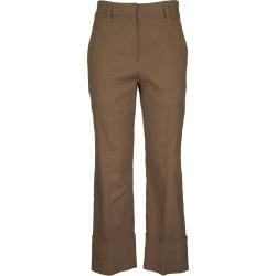 Brunello Cucinelli Straight Cigarette Trousers In Comfort Linen And Cotton Drill found on Bargain Bro UK from Italist