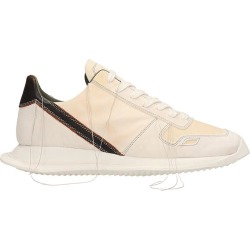 Rick Owens White Leather And Suede Vintage Runner Sneakers found on Bargain Bro UK from Italist