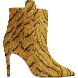 Bams High Heels Ankle Boots In Yellow Fabric found on MODAPINS from Italist for USD $605.20