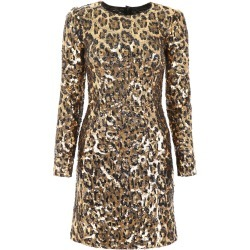 Dolce & Gabbana Leopard Print Sequins Dress found on Bargain Bro UK from Italist