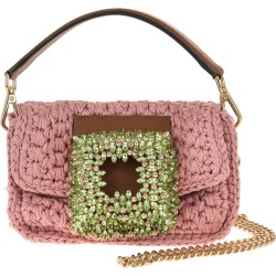 Gedebe Pink Small Mia Crochet Bag With Crystals found on Bargain Bro UK from Italist