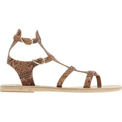 Ancient Greek Sandals Brown Python Printed Sandals found on MODAPINS from Italist for USD $170.66