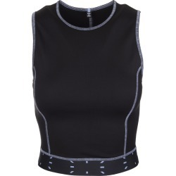 McQ Alexander McQueen Black Cropped Top With Logo Woman found on Bargain Bro UK from Italist