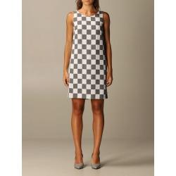 Emporio Armani Dress Emporio Armani Checkered Viscose Blend Dress found on Bargain Bro UK from Italist