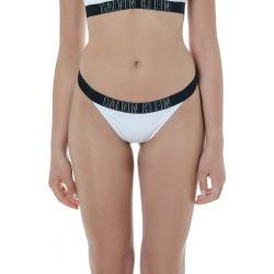 Calvin Klein White And Black Logo Slip Bikini found on Bargain Bro UK from Italist