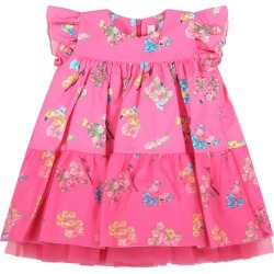 Blumarine Fuchsia Dress For Baby Girl With Logo found on Bargain Bro India from italist.com us for $216.25