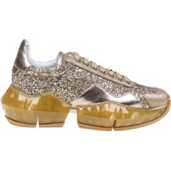 Jimmy Choo Sneakers Diamond / F In Glittery Fabric Color Gold found on Bargain Bro UK from Italist