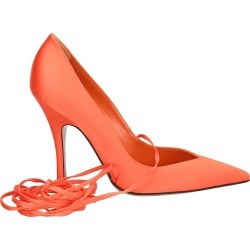 Attico Orange Satin Lace-up ruby Pump found on MODAPINS from Italist for USD $610.25