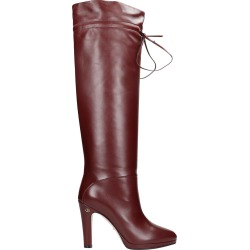 Gucci High Heels Boots In Bordeaux Leather found on MODAPINS from Italist for USD $1251.97
