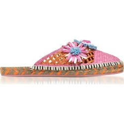 Sophia Webster Jute And Leather Tansy Espadrille Slippers found on Bargain Bro UK from Italist