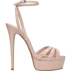 Le Silla Sandals In Powder Patent Leather found on MODAPINS from Italist for USD $626.44
