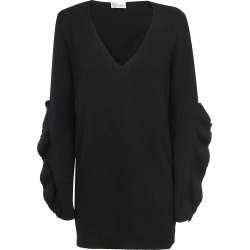 Red Valentino Ruffled Appliqué Sweater found on Bargain Bro India from Italist Inc. AU/ASIA-PACIFIC for $352.03